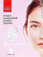Düfte, Parfümerie und Kosmetik Feuchtigkeitsspendende Gesichtsmaske mit Ziegenmilch - Czyste Piekno Hydro Therapia Face Mask