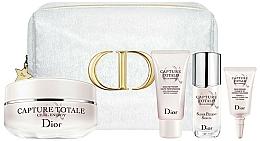 Düfte, Parfümerie und Kosmetik Gesichtspflegeset - Dior Capture Totale Holiday Set (Straffende Gesichtscreme 50ml + Reinigungsgel für das Gesicht 15ml + Gesichtsserum 10ml + Augencreme 5ml)