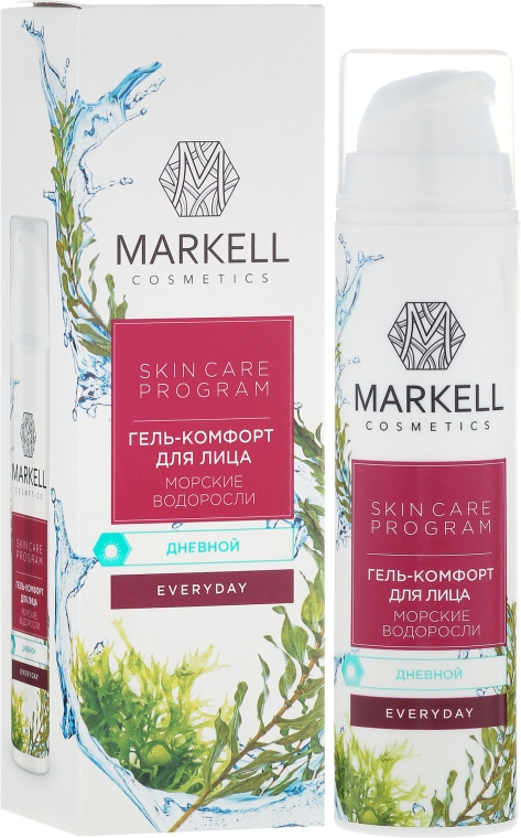 """Tägliches Gesichtscreme-gel """"Meeresalgen"""" - Markell Cosmetics Every Day Cream Gel — Bild N1"""