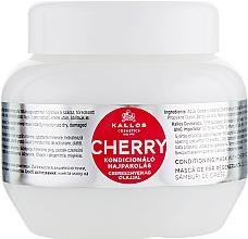 Düfte, Parfümerie und Kosmetik Pflegemaske für trockenes und splissiges Haar mit Kirschkernöl - Kallos Cosmetics KJMN Conditioning Mask With Cherry Seed Oil