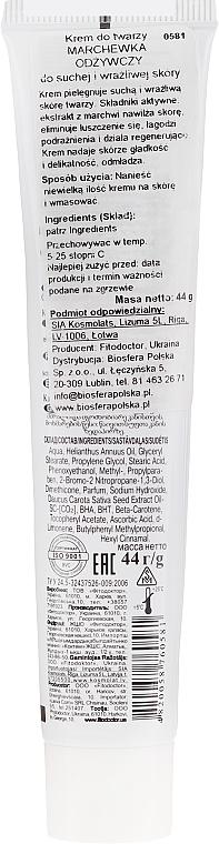 Pflegende Gesichtscreme mit Karotten für trockene und empfindliche Haut - Fitodoctor — Bild N2