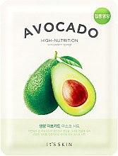 Düfte, Parfümerie und Kosmetik Pflegende Tuchmaske mit Avocado - It's Skin The Fresh Avocado Mask Sheet