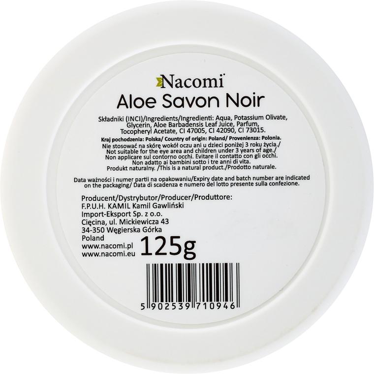 Natürliche schwarze Seife mit Aloe Vera - Nacomi Savon Noir Natural Black Soap with Aloe Vera Juice — Bild N2