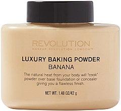 Düfte, Parfümerie und Kosmetik Gebackener loser Bananenpuder - Makeup Revolution Luxury Baking Powder Banana