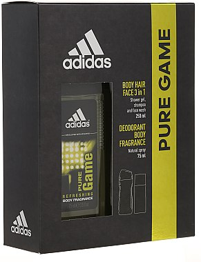 Adidas Pure Game - Duftset (Deodorant/75ml + Duschgel/250ml) — Bild N1