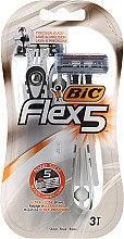 Düfte, Parfümerie und Kosmetik Einwegrasierer 3 St. - Bic Flex 5 Dispo