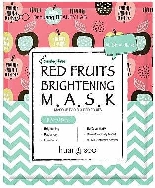 Aufhellende Tuchmaske mit roten Früchten - Huangjisoo Red Fruits Brightening Mask — Bild N1