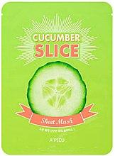 Düfte, Parfümerie und Kosmetik Feuchtigkeitsspendende Tuchmaske in Form von dünn geschnitten Gurkenscheiben - A'pieu Slice Sheet Mask Cucumber