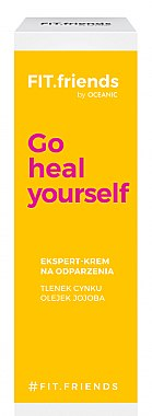 Gesichtscreme gegen Irritationen mit Zinkoxid und Jojobaöl - AA Fit.Friends Go Heal Yourself Ekspert Cream — Bild N1