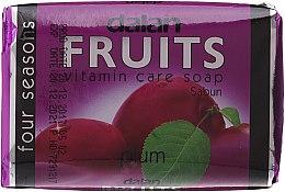 Düfte, Parfümerie und Kosmetik Seife mit Pflaumenextrakt und Vitaminen - Dalan Fruits Vitamin Care Soap Plum