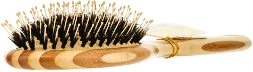 Bambusbürste für das Haar - Olivia Garden Healthy Hair Oval Combo Eco-Friendly Bamboo Brush — Bild N2