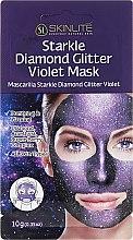 Düfte, Parfümerie und Kosmetik Straffende violette Peelingmaske mit Amethyst und Beerenkomplex - Skinlite Starkle Diamond Glitter Violet Mask