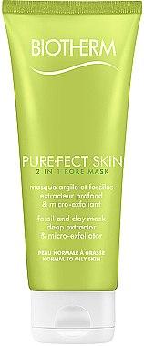 Reinigende Peeling-Maske für das Gesicht mit mineralischem Ton und Kieselalge - Biotherm Pure.fect Skin 2 In1 Pore Mask — Bild N1