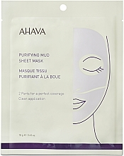 Düfte, Parfümerie und Kosmetik Reinigende Tuchmaske für das Gesicht mit Schlamm - Ahava Purifying Mud Sheet Mask