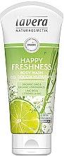Düfte, Parfümerie und Kosmetik Duschgel mit Bio Limette und Zitronengras - Lavera Happy Freshness Body Wash Lime&Lemongrass