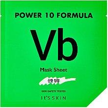 Düfte, Parfümerie und Kosmetik Erfrischende Tuchmaske mit Vitamin B6, Frucht- und Rindenextrakt - It's Skin Power 10 Formula Vb Mask Sheet