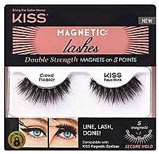 Düfte, Parfümerie und Kosmetik Magnetische Wimpern - Kiss Magnetic Lashes Double Strength KMEL 05 Crowd Pleaser