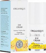 Düfte, Parfümerie und Kosmetik Straffende und aufhellende Augenkonturcreme mit Kürbis und Koffein - Organique Hydrating Therapy Eye Cream