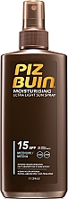 Düfte, Parfümerie und Kosmetik Feuchtigkeitsspendende Sonnenschutz Körperspray SPF 15 - Piz Buin Moisturising Spray