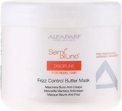 Haarmaske für widerspenstiges Haar - Alfaparf Semi di Lino Discipline Frizz Mask — Bild N1