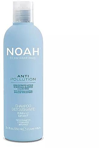 Feuchtigkeitsspendendes Reinigungsshampoo mit Aloe Vera-Extrakt und Moringaöl - Noah Anti Pollution Detox Shampoo — Bild N1