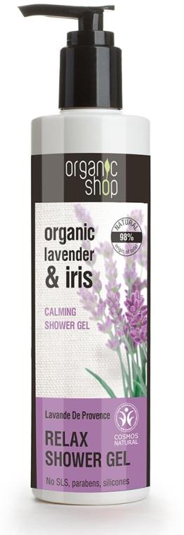 Entspannendes Duschgel mit Bio Lavendelöl und Iris - Organic Shop Organic Shop Organic Lavender and Iris Relax Shower Gel — Bild N1