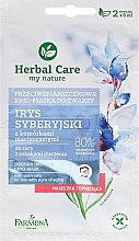 Düfte, Parfümerie und Kosmetik Cryo-Gesichtsmaske mit sibirischer Iris - Farmona Herbal Care Siberian Iris Face Cryo-Mask