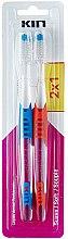 Düfte, Parfümerie und Kosmetik Zahnbürstenset - Kin Cepillo Dental Soft Toothbrush Pack (Zahnbürste 2x1 St.)