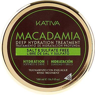 Intensiv feuchtigkeitsspendende Maske für normales und strapaziertes Haar - Kativa Macadamia Deep Hydrating Treatment — Bild N7