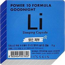Düfte, Parfümerie und Kosmetik Anti-Aging Schlafmaske für das Gesicht in einer Power-Kapsel - It's Skin Power 10 Formula Goodnight Li Sleeping Capsule
