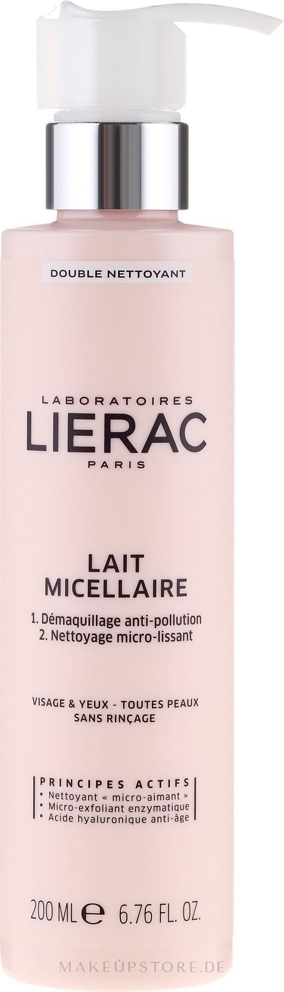 Mizellenmilch zum Abschminken - Lierac Double Nettoyant Lait Micellaire — Bild 200 ml