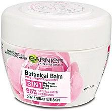 Düfte, Parfümerie und Kosmetik 3in1 Tagescreme, Nachtcreme und Maske für das Gesicht mit Rosenwasser - Garnier Skin Naturals Botanical Balm Rose 3in1