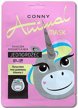 Erfrischende Gesichtsmaske mit Vitamin E Einhorn - Conny Animal Mask Jednorozec — Bild N1