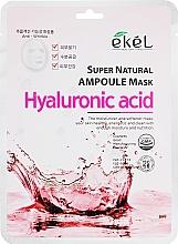 Düfte, Parfümerie und Kosmetik Tuchmaske für das Gesicht mit Hyaluronsäure - Ekel Super Natural Ampoule Mask Hyaluronic Acid