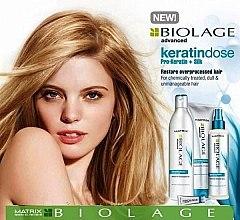 Aufbauendes Shampoo für überstrapaziertes Haar - Biolage Keratindose Pro Keratin Shampoo — Bild N4