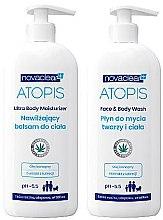 Düfte, Parfümerie und Kosmetik Körperpflegeset - Novaclear Atopis (Körperlotion 500ml + Duschgel 500ml)