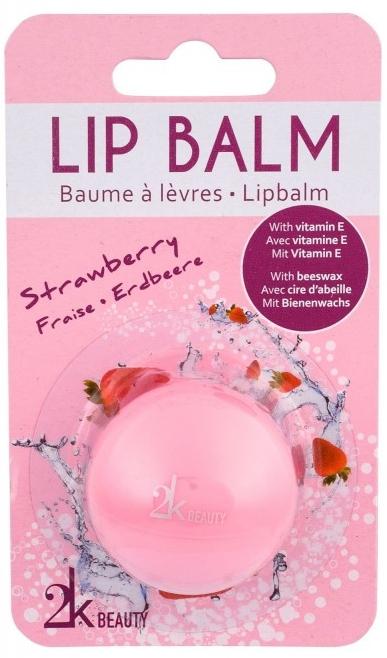 Lippenbalsam mit Erdbeerduft - Cosmetic 2K Lip Balm — Bild N1