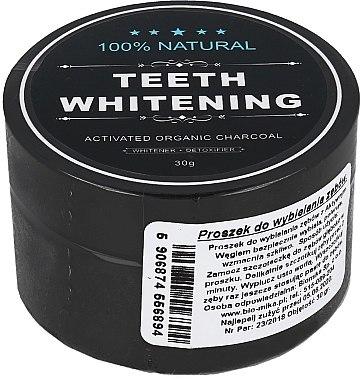 100% Natürliches aufhellendes Zahnpulver mit Aktivkohle - Biomika Natural Teeth Powder — Bild N1