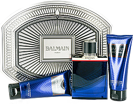 Düfte, Parfümerie und Kosmetik Balmain Balmain Homme - Kosmetikset (Eau de Toilette/100ml + After Shave Balsam/100ml + Duschgel/100ml)