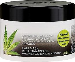 Düfte, Parfümerie und Kosmetik Regenerierende und feuchtigkeitsspendende Haarmaske mit Cannabisöl - India