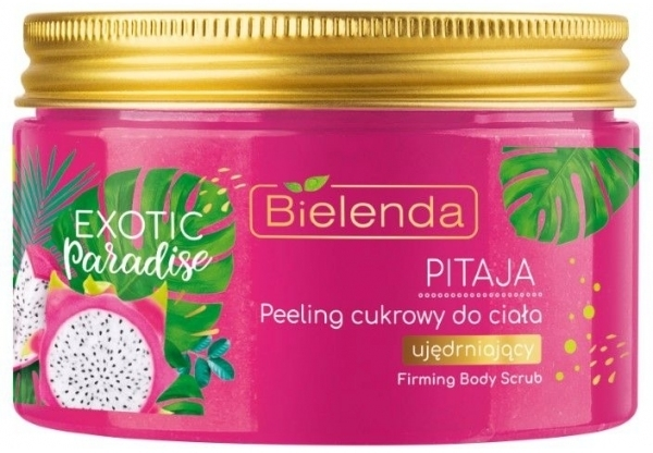 Festigendes Zuckerpeeling für den Körper mit Drachenfrucht - Bielenda Exotic Paradise Peel — Bild N1