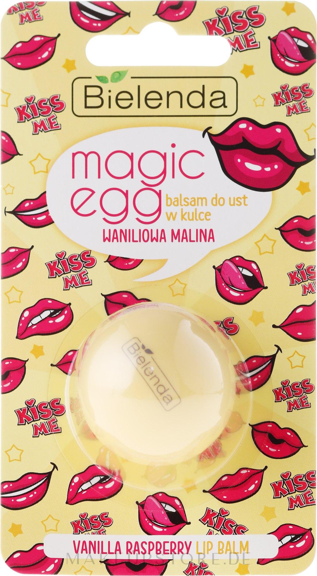 "Lippenbalsam ""Vanille und Himbeere"" - Bielenda Magic Egg Vanilla Raspberry Lip Balm — Bild 8.5 g"