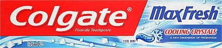 Zahnpasta Max Fresh With Cooling Crystals - Colgate Max Fresh With Cooling Crystals Cool Mint — Bild N1