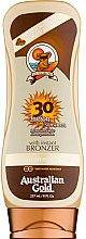 Düfte, Parfümerie und Kosmetik Sonnenschutzlotion mit Bronzer SPF 30 - Australian Gold Lotion With Instant Bronzer SPF 30