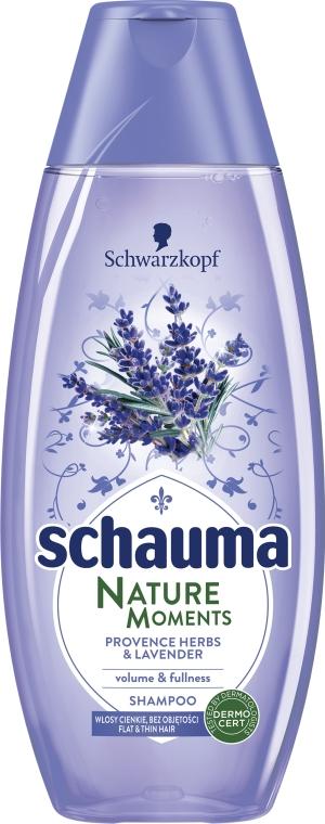 Volumen & Fülle Shampoo mit Lavendel und Kräuter der Provence - Schwarzkopf Schauma Nature Moments Provence Herbs & Lavender Shampoo — Bild N1