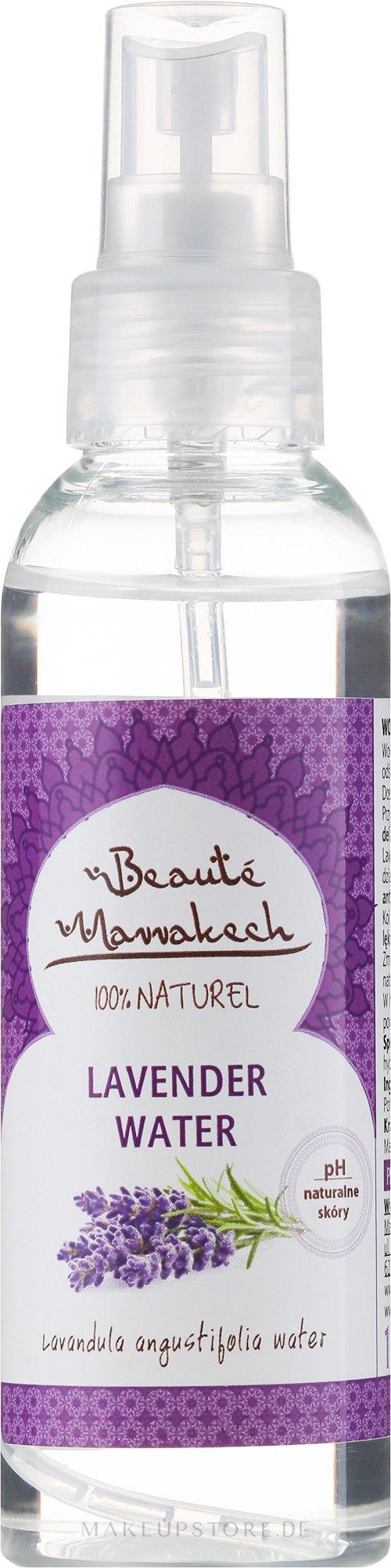 Natürliches feuchtigkeitsspendendes Lavendelwasser für das Gesicht und Körper - Beaute Marrakech Lavander Water — Bild 125 ml