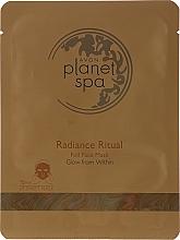 Düfte, Parfümerie und Kosmetik Tuchmaske für das Gesicht mit Goldfolie - Avon Planet Spa Radiance Ritual Foil Face Mask