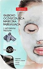 Düfte, Parfümerie und Kosmetik Tiefenreinigende Schaummaske für Gesicht mit Sauerstoff - Purederm Deep Purifying Black O2 Bubble Mask Charcoal