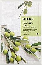 Düfte, Parfümerie und Kosmetik Milde Tuchmaske für das Gesicht mit Olivenextrakt - Mizon Joyful Time Olive Essence Mask