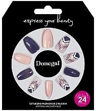 Düfte, Parfümerie und Kosmetik Künstliche Nägel Set lila, beige 24 St. - Donegal Express Your Beauty